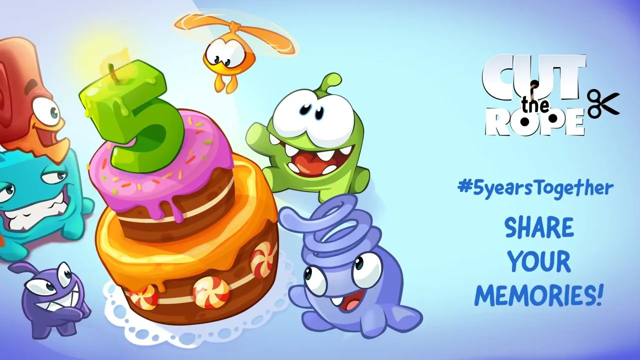 Recently a while ago. Cut the Rope turns 5