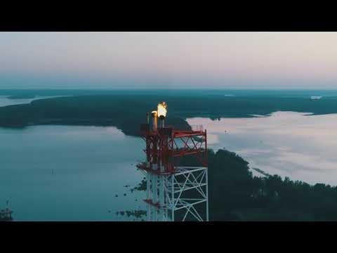 Видеосъемка промышленных объектов с воздуха квадрокоптером