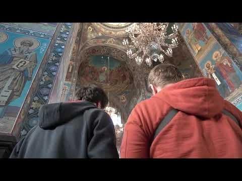 Съёмка коптером внутри храма Спаса на крови